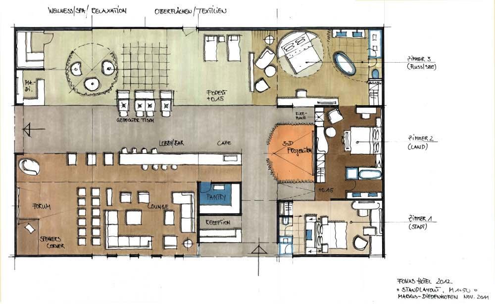 Der Vorlaufige Grundriss Verspricht Bereits Schon Jetzt Interessante Einblicke In Den Themenpark FOKUS HOTEL 2012