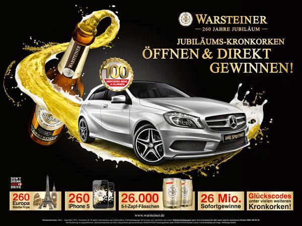Gewinnspiel Warsteiner 2013 Kronkorken Aktion Zum Jubiläum