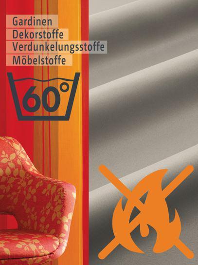 endlich schwer entflammbare stoffe b1 mit 60 c waschbar. Black Bedroom Furniture Sets. Home Design Ideas