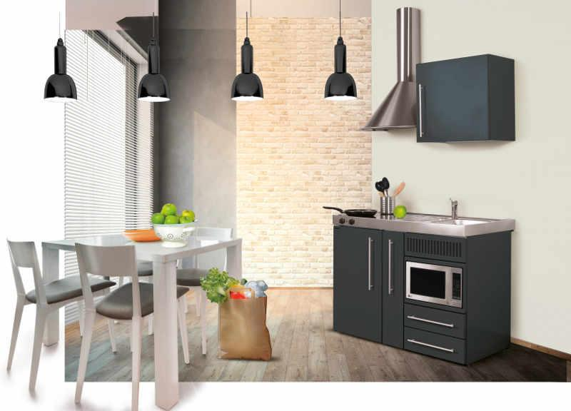Miniküche Mit Kühlschrank Und Geschirrspüler : Planen sie ihre metall miniküche mit hiro objekt hotelier