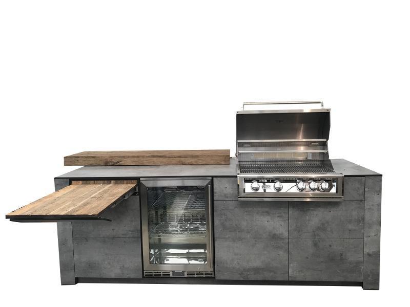 Outdoorküche Mit Kühlschrank Preis : Outdoorküche bbqtion für ihren garten hotelier
