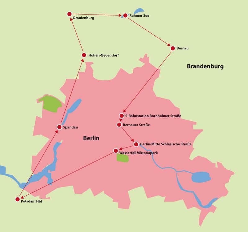 Berlin Potsdam Karte.Fahrradtour Berlin Umland Brandenburg Berlin Hotelier De