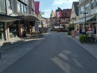 Die gemütliche Fußgängerzone in Bad Kissingen