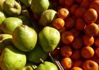 Obst im Marktverkauf