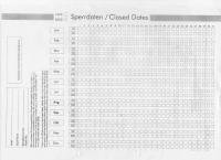 Verfügbarkeiten wurden noch im Jahr 2000 über Sperrdaten-Sheets verwaltet