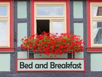 Das romantische Bild eines Hotel Bed and Breakfast