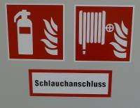 Piktogramm für den Schlauchanschluss von Löschwasser und Feuerlöscher im Falkensteiner Hotel Wien Margareten; Bildquelle Hotelier.de Wolfgang Ahrens