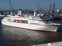 Die MS Deutschland aus der TV-Serie 'Das Traumschiff'