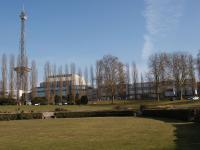 Das Gelände der Messe Berlin mit Blick auf Funkturm und Halle 10 / Foto © Sascha Brenning - Hotelier.de