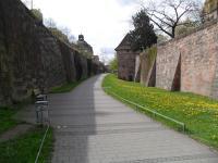 Die berühmte Stadtmauer von Nürnberg