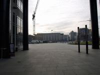 Stuttgarter Bankenviertel mit Blick auf Hauptbahnhof und Steigenberger Graf Zeppelin