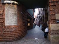 Historische Straße inmitten von Bremen: Die Böttcherstrasse