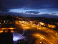 Blick vom Hotel ins westliche Potsdam bei Nacht