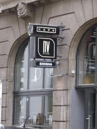 Der NV Club München mit Shisha Cafe - Bar am Marienplatz in München, Aufnahme April 2016