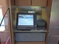 Touchscreen Kasse der DB mit Bondrucker