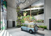Das Berlin Gefühl gibt es gleich in der Empfangshalle und zwar 100%, Alle Bilderechte 25hours Hotel Company GmbH