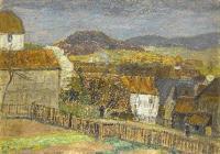 Otto Modersohn: Klein-Görlitz vor dem Gewitter, 1912, Öl/Malpappe (Otto Modersohn Museum Fischerhude)