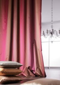 Atmosphere - Dessin 1010 Edler Taft mit harmonischem Farbverlauf und elegantem Glanz. 100% Polyester, 8 Farben, ca. VK-Preis: 79,00 €/lfm / Bildquelle: ADO Goldkante GmbH & Co. KG