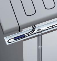 Hochwertige Werkstoffe und intelligente Regeltechnik von AEG Haustechnik ermöglichen dem Fachmann die einwandfreie und sicherheitsgeprüfte Ausführung einer Dachrinnen- und Rohrbegleitheizung / Foto: AEG Haustechnik
