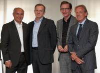 Das neue Führungsteam von Accor (von rechts nach links): Volkmar Pfaff, Michael Verhoff, Fabien Valentin und Michael Mücke / Bildquelle: Alle Accor Hospitality Germany GmbH