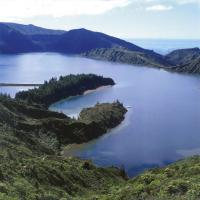 Areal des Kratersees Lagoa do Fogo auf Sao Miguel
