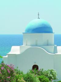 Die Farbe blau und Kreta sind füreinander gemacht