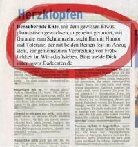 Die Kontaktanzeige / Bildquelle: Factotum Handelshaus GmbH