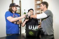 Beck's cool at home Gastgeber mit Nilz Bokelberg, Markus Kavka und Micky Beisenherz / Bildquelle: Anheuser-Busch InBev Deutschland