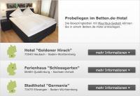 Präsentation der Hotels im Kooperationsprogramm von www.betten.de