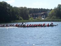 Das Drachenboot-Rennen am Beetzer See mit Blick auf das Hotel & Spa Sommerfeld / Bildquelle: Sascha Brenning - Hotelier.de