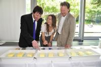 Butterexperten 2: v.l. Prof. Dr. Eder, Franca Mangiameli, Prof. Dr. Nicolai Worm