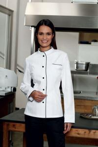 Bio-Baumwolle in ihrer modischen Variante: Kochjacke Chivita Lady aus Organic Cotton, Bildquelle CG Workwear