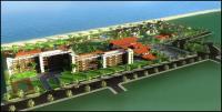 Die Hotelanalge bei Ham Tan an der Südostküste Vietnams