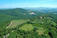Castello di Vicarello aus der Vogelperspektive.