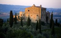 Castello di Vicarello - Das Anwesen bei Sonnenaufgang, Bildquelle segara.de