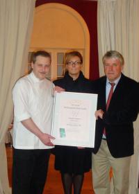 Christian Scharrer (Sternekoch im Buddenbrooks Restaurant), Jana Lührmann (Direktorin Grand SPA Resort A-ROSA Travemünde), Dieter Tippenhauer (Geschäftsführer Bertelsmann Verlag)