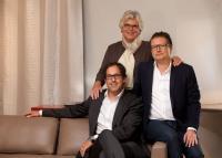 v.l.n.r.: Jörg von Sichart, Christine Kröncke und Frank Stohlmeyer
