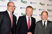 Von links nach rechts: Frank Maßen (CEO Carlsberg Deutschland), Marc Bator (Moderator und Tagesschausprecher ARD), Olaf Scholz (Bürgermeister der Freien und Hansestadt Hamburg)