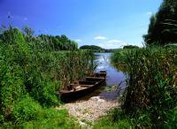 Boot am Seeufer des Biosphärenreservats Schorfheide-Chorin/ Fotoquelle: Boldt,Brandenburg TMB