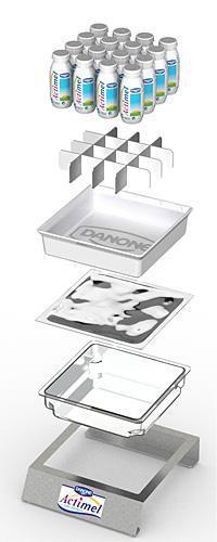 Actimel Kühldisplay in Einzelteilen / Bildquelle: Danone GmbH