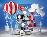 Tragen Sie die Werbebotschaft 'Ballonausflug' mit schöner Deko in die Köpfe Ihrer Kunden!