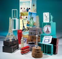 Reise Accessoires, London, Paris und Berlin Reminiszenzen für Ihr Hotel, Reisbüro oder Schaufenster; Bildquellen Deko Woerner