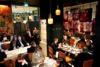 Erste Riesling Lounge im mesa-Restaurant des Grand Hyatt Berlin / Bildquelle: Deutsches Weininstitut