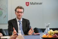 Douglas Graf von Saurma-Jeltsch ist Mitglied des Geschäftsführenden Vorstandes des Malteser Hilfsdienstes e. V. und arbeitet eine Woche lang undercover im eigenen Unternehmen. (c) RTL / Lucas Heinz