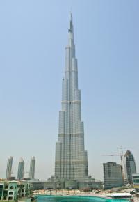 Burj Dubai mit Armani Hotel*, Beschreibung siehe unten in kursiver Schrift