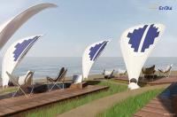 EnBW Dalia-Solarschirm Leaf / Quelle: EnBW