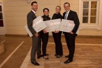 Die strahlenden Gewinner (von links): Benjamin Cook, Hava Ryustem, Melissa Vergeer, Marek Gawel / Bildquelle: FCSI Deutschland-Österreich e. V.