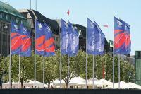 Beflaggung anlässlich der FIFA Fußball-WM 2006 / Bildquelle: FahnenFleck GmbH & Co. KG