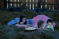 Kinder schlafen im Heu / Bildquelle: Beide Feriendorf Holzleb'n