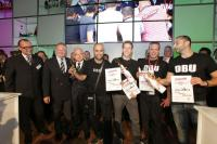 Gewinner v.l.n.r.: Hüseyin Kirac, Marian Krause, Benjamin Boll (4. Platz), Tony Oliviero  Fotos: Andreas Muck, Bildquelle medienbotschaft.com